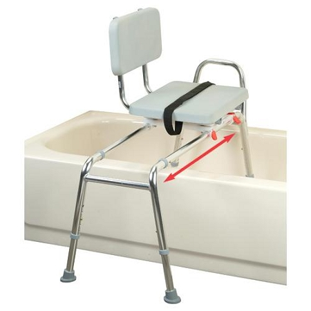 Sliding Transfer Bench With Swivel Seat At