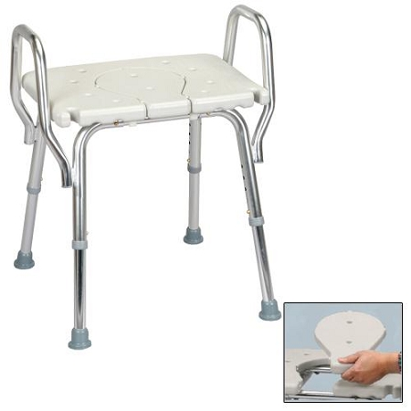 eagle shower chair w removalble cut out seat at