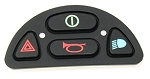 JSM/CJSM Front Keypad + Lights 4 Buttons - P77292