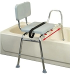 Snap-N-Save Sliding Transfer Bench with Padded Seat and Back