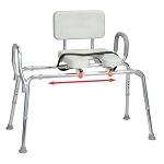 Snap-N-Save Sliding Transfer Bench w/ Padded Cut Out Seat & Back