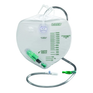 Bard Infection Control Drainage Bag w/ Anti-Reflux Chamber and Bacteriostatic Collection System - 4,000 mL
