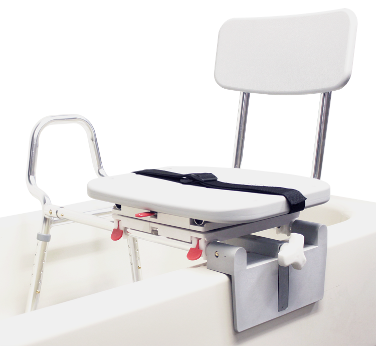 Eagle Tub-Mount Swivel Sliding Transfer Bench 77762 at IndeMedical.com