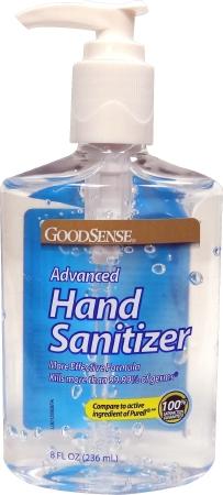 Goodsense Advanced Hand Sanitizer 2 Oz Bottle And 8 Oz Pump