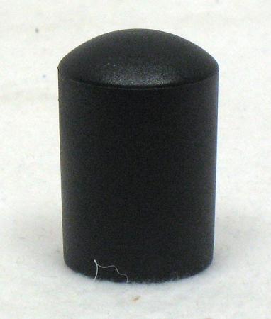 Black Tube End Cap, fits 7/8
