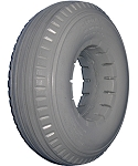 Urethane 4-Rib Wheelchair Tire - 9 x 2-3/4