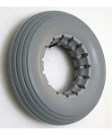 Urethane Multi-Rib Wheelchair Tire - 7 x 2