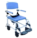 Ezee Life Aluminum Attendant Shower & Commode Chair