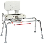 Snap-N-Save Sliding Transfer Bench with Cut Out Swivel Seat