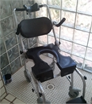 Go-Anywhere Commode 'n Shower Chair CS-A® - Adjustable - Black