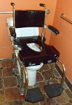 Go-Anywhere Commode, Shower 'n Tub Chair CST® - Blue