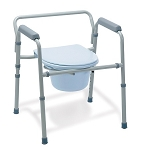 Medline Steel 3-in-1 Folding Commode