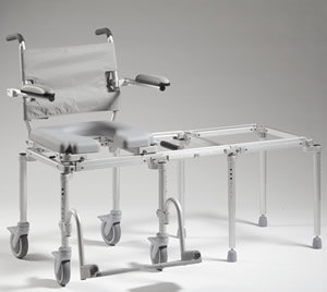 multiCHAIR 6000Tx Tub Commode Slider System with Carrying Case