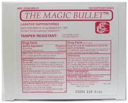 Magic Bullet Suppository - Box of 50