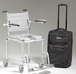 multiCHAIR 4000Tx Roll-in Shower/Commode Chair with Carrying Case