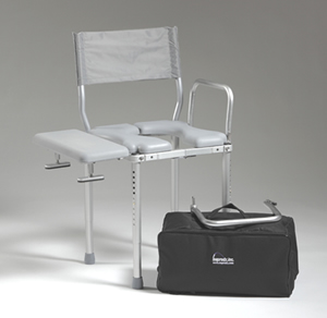 Quick View & multiCHAIR 3000Tx Tub and Commode Chair with Carrying Case