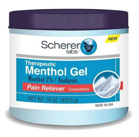 Therapeutic Menthol Gel Reliever - 16 oz. Jar