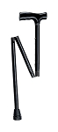 McKesson Folding T-Handle Aluminum Cane