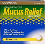 GoodSense Mucus Relief Tablets - Pack of 30