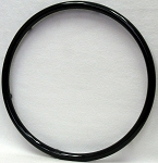 Black Vinyl Coated 4-Rivnut Pushrim 24 x 1-3/8