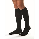 bst Mens Compression Socks: Knee-High, Closed Toe, WHITE