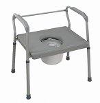 Heavy-Duty Steel Commode with Platform Seat - Case of 2