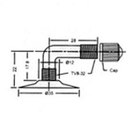4.00-6 Pneumatic Tube w/ 90 Degree Valve Stem
