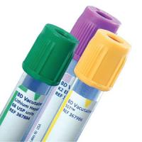 BD Vacutainer Glass Plasma Tube, Green, 16 x 100 mm x 10 mL - Box of 100