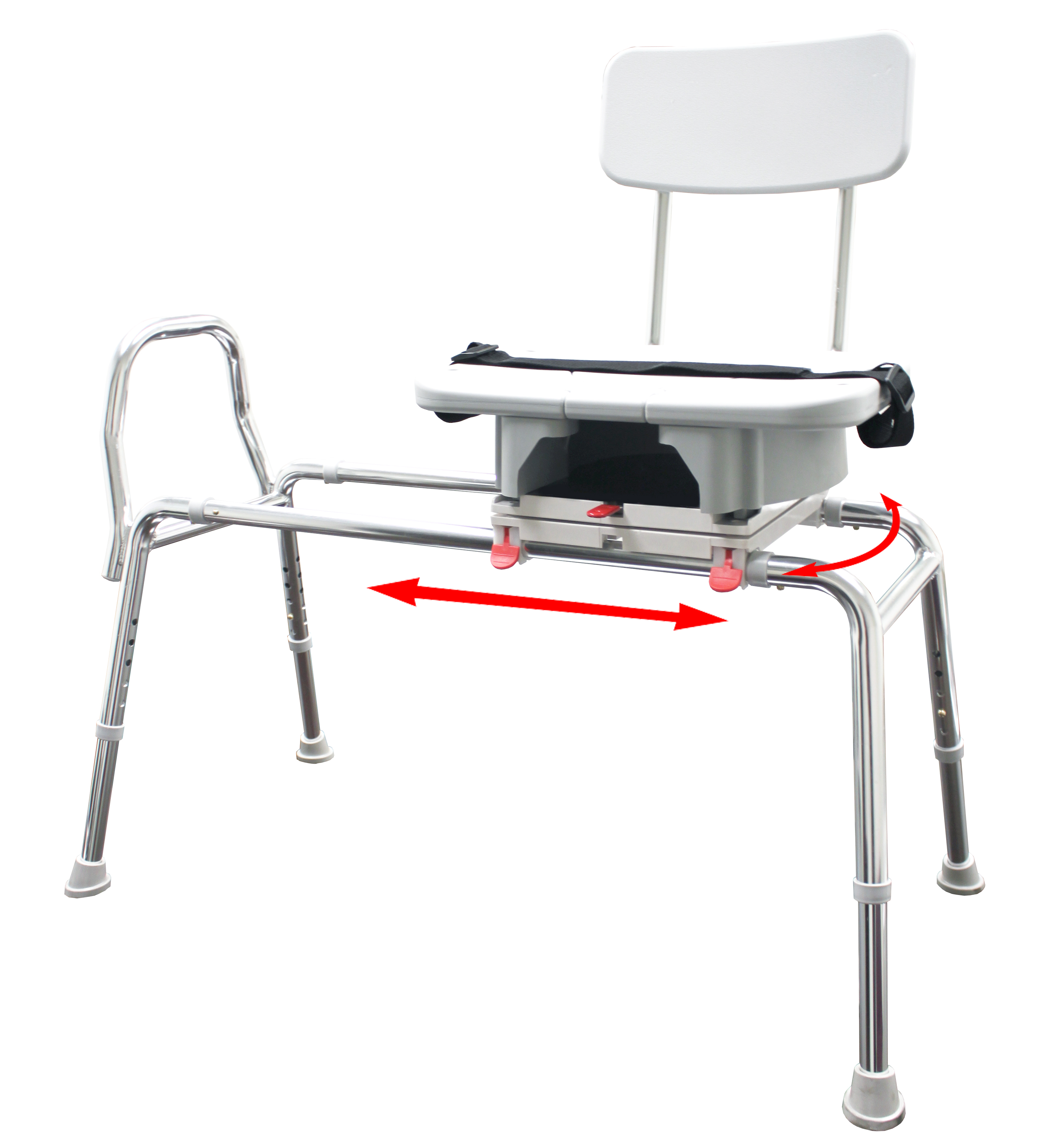 Eagle Swivel Sliding Transfer Bench with Cut-Out Seat 77663, 77683 ...