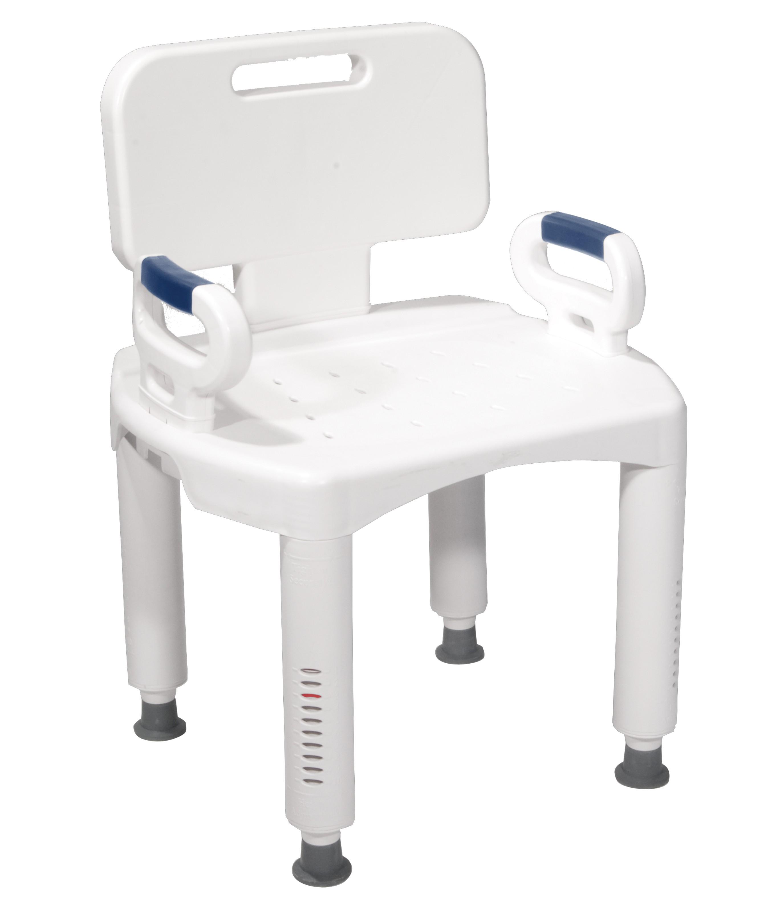 McKesson Premium Plastic Bath Chair at IndeMedical.com