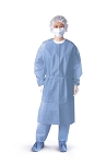 Open Back Coated Polypropylene Isolation Gowns