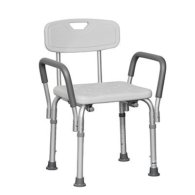 probasics shower chair with arms case of 4