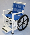 PVC Shower Wheelchair w/ Sling Seat