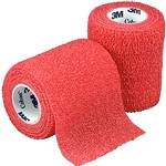 3M Coban Self-Adherent Wrap - Red 3 x 5 yards