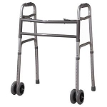 Cardinal Heavy-Duty Folding Adult Walker with Wheels