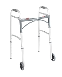 Drive Deluxe Two Button Folding Walker with 5