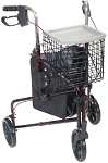 Drive 3 Wheel Rollator with Basket Tray and Pouch
