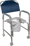 Drive Portable Shower Chair Commode with 3