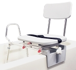 Snap-N-Save Sliding Tub-Mount Transfer Bench w/ Swivel Seat and Back