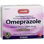Leader 20 mg Omeprazole Acid Reducer Tablets - 42 Tablets