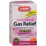 Leader Ultra Strength Gas Relief Softgels - 60 Count Bottle