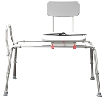 Snap-N-Save Sliding Transfer Bench with Swivel Seat & Back