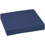 Mabis Navy Blue Foam Wheelchair Cushion, 16 x 18 x 3