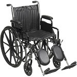 McKesson Wheelchair with Padded Armrest and Swingway Legrest