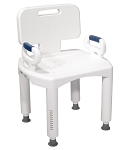 McKesson Premium Plastic Bath Chair