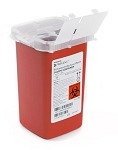 McKesson Prevent Biohazard Infectious Waste Sharps Container, 1 Quart Red
