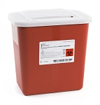 McKesson Prevent Biohazard Infectious Waste Sharps Container, 2 Quart Red