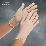 Norco Therapeutic Full Finger Compression Gloves, Over The Wrist