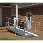 PVI OnTrac Solid Wheelchair Ramp with Handrails