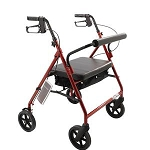 Roscoe Bariatric Rollator with Padded Seat